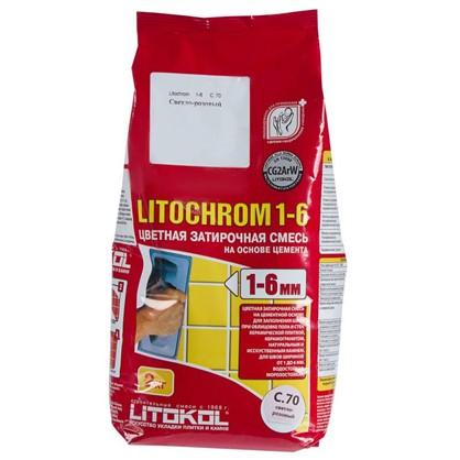 Цементная затирка Litochrom 1-6 С.70 2 кг цвет розовый