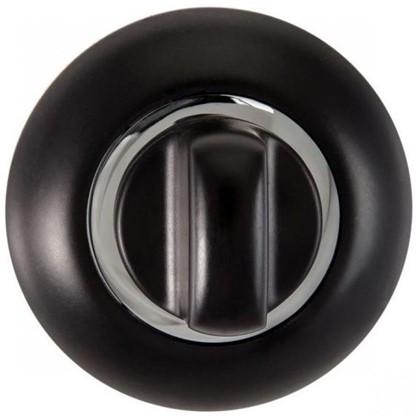Завертка к ручкам RENZ BIG цвет черный/глянцевый хром