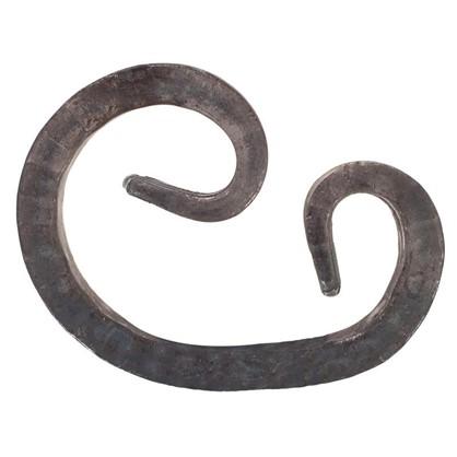Завиток кованый асимметричный 12х90х125 мм сталь