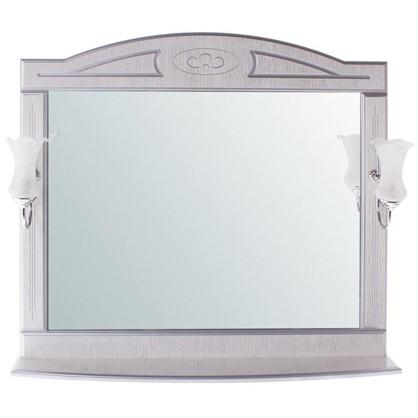 Зеркало Луиза 105 см цвет белое серебро
