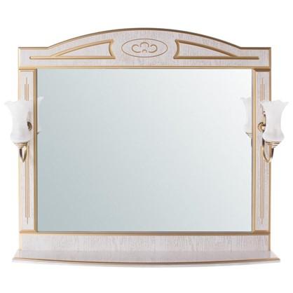 Зеркало Луиза 105 см цвет белое золото