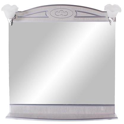 Зеркало Луиза 83 см цвет белое серебро
