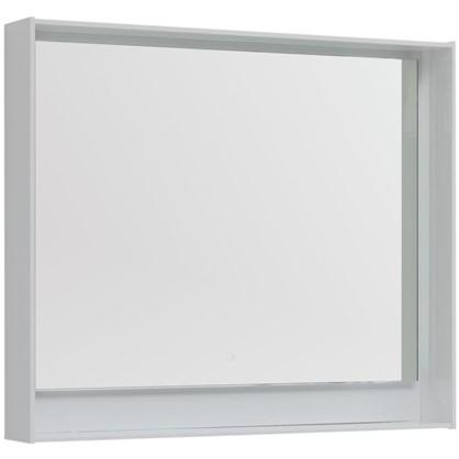 Зеркало с подсветкой Мокка 100 см цвет белый глянец