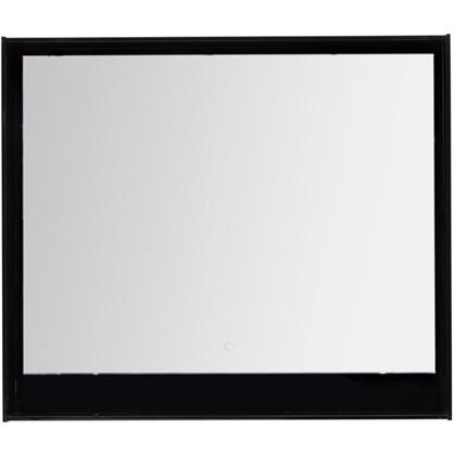 Зеркало с подсветкой Мокка 100 см цвет чёрный глянец