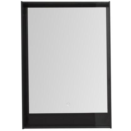 Зеркало с подсветкой Мокка 60 см цвет чёрный глянец