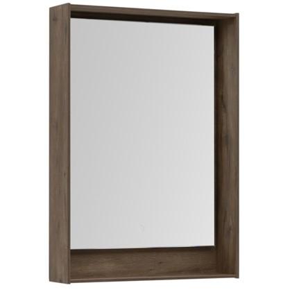 Зеркало с подсветкой Мокка 60 см цвет дуб