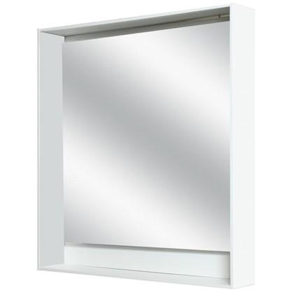 Зеркало с подсветкой Мокка 80 см цвет белый глянец