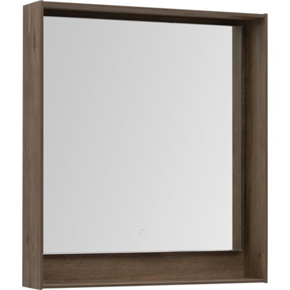 Зеркало с подсветкой Мокка 80 см цвет дуб