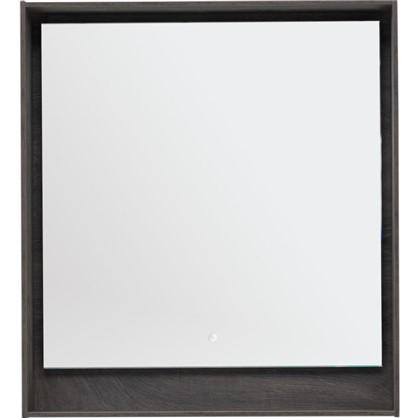 Зеркало с подсветкой Мокка 80 см цвет дуб серый