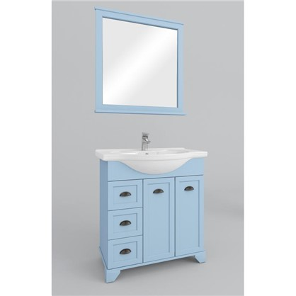 Зеркало Шарм 75 см цвет голубой