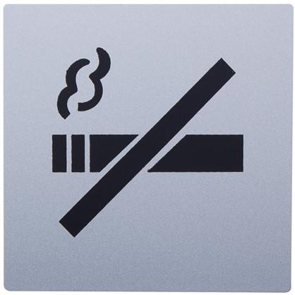 Знак дверной Не курить Larvij самоклеящийся цвет серебро