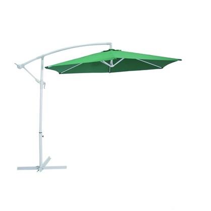 Зонт дачный 2.7 м зелёный подвесной на подставке металл/полиэстер