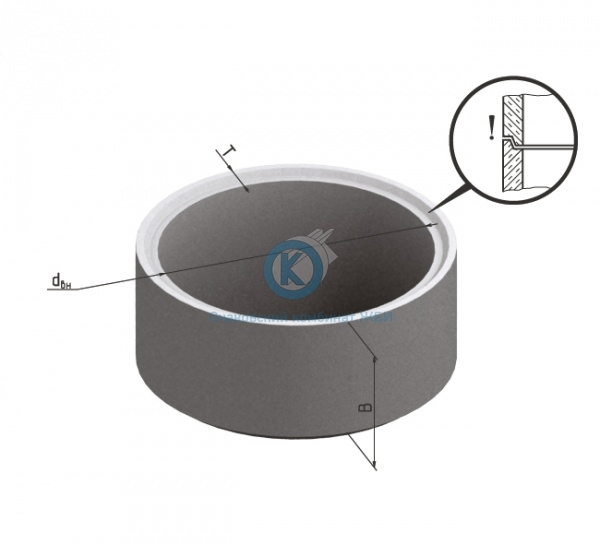 Кольцо бетонное для колодца К-8-5чс