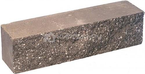 Кирпич гиперпрессованный брусок М-250 шоколад рустированный ложок