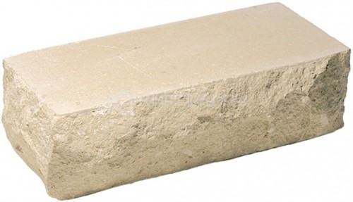 Кирпич гиперпрессованный брусок М-250 слоновая кость рустированный угол