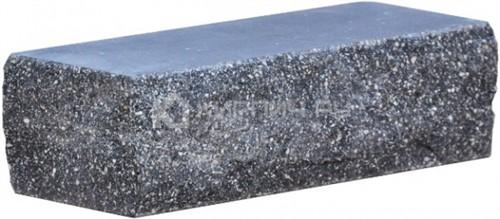 Кирпич одинарный М-250 антрацит рустированный угол в
