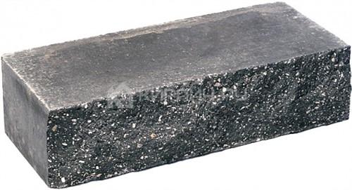 Кирпич одинарный М-250 черный рустированный ложок