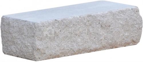 Кирпич одинарный М-250 серый рустированный угол