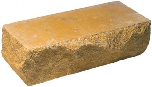 Кирпич одинарный М-250 желтый рустированный угол в
