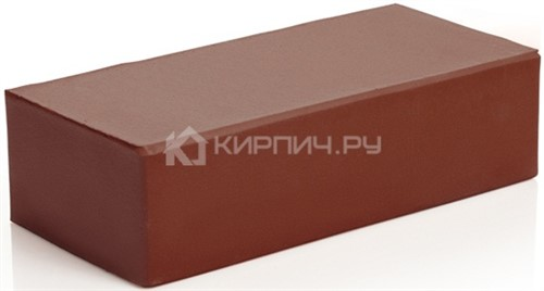 Кирпич 250х120х65 одинарный шоколад полнотелый гладкий М-300