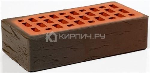 Кирпич для фасада баварская кладка темный одинарный руст М-200 Пятый Элемент в