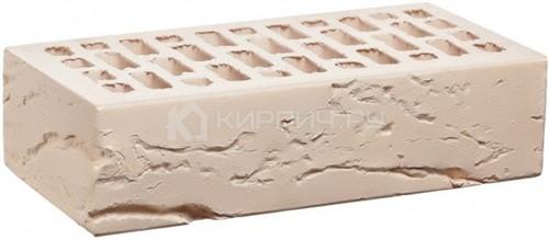 Кирпич облицовочный белый одинарный кора дерева М-150 КС-Керамик