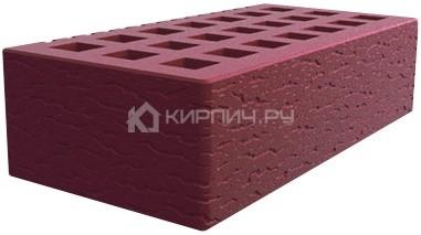 Кирпич для фасада бордо одинарный кора дуба М-150 Саранск