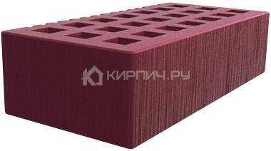 Кирпич для фасада бордо одинарный шероховатый М-150 Саранск