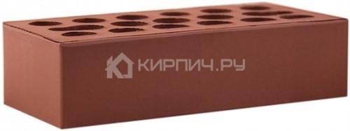 Кирпич облицовочный бордо темный одинарный гладкий М-150 Керма