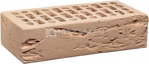 Кирпич для фасада камелот гляссе одинарный кора дерева М-150 КС-Керамик