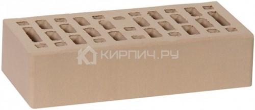 Кирпич для фасада капучино одинарный гладкий М-150 Ростов в