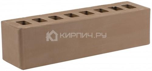 Кирпич для фасада коричневый брусок гладкий М-175 ЖКЗ