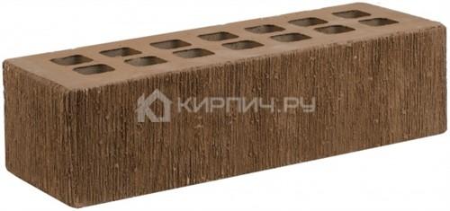 Кирпич облицовочный коричневый евро бархат М-175 ЖКЗ