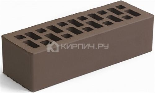 Кирпич облицовочный коричневый евро гладкий М-150