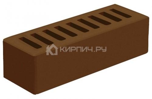 Кирпич Голицынский коричневый евро гладкий М-175