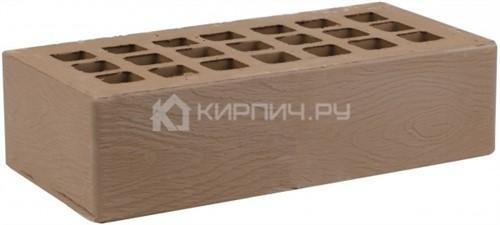Кирпич облицовочный коричневый одинарный дерево М-175 ЖКЗ