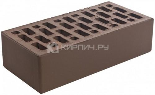 Кирпич  М-150 коричневый одинарный гладкий Браер
