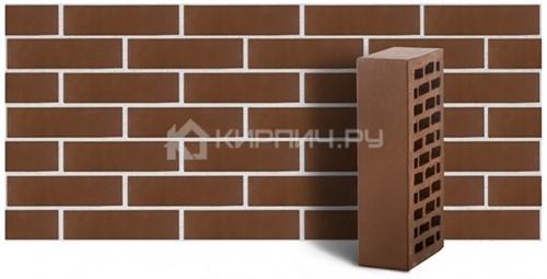 Кирпич для фасада коричневый одинарный гладкий М150 ЛСР
