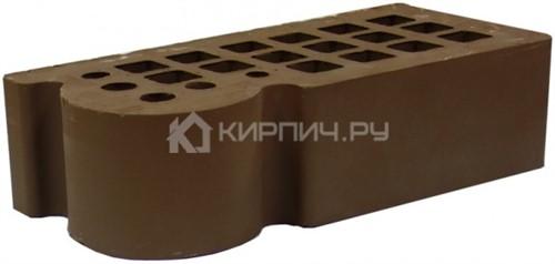 Кирпич облицовочный коричневый одинарный КФ-3 гладкий М-175 ЖКЗ