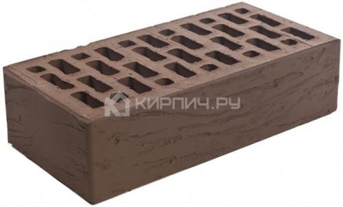 Кирпич Браер коричневый одинарный риф М-150 в