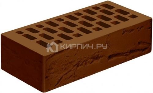 Кирпич Голицынский коричневый одинарный руст М-175