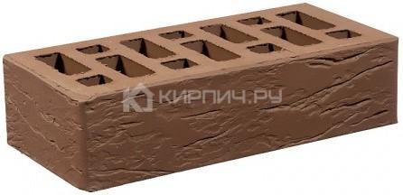 Кирпич одинарный коричневый рустик М-150 СтОскол