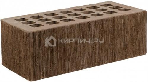 Кирпич облицовочный коричневый полуторный бархат М-175 ЖКЗ