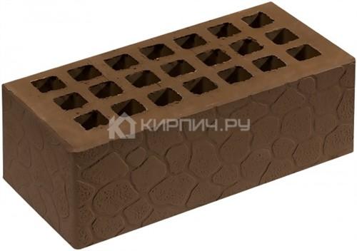 Кирпич для фасада коричневый полуторный черепаха М-150 Саранск