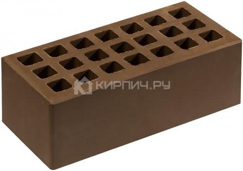 Кирпич облицовочный коричневый полуторный гладкий М-150 Саранск