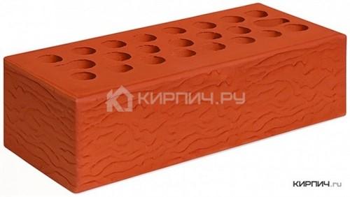 Кирпич для фасада красный евро рустик М-150 Керма в