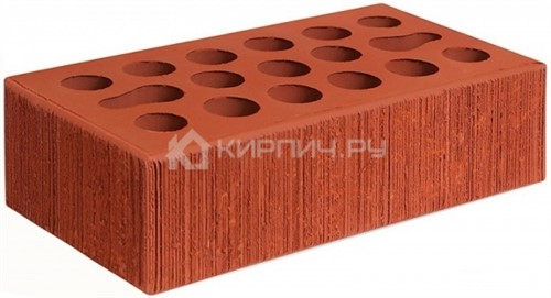 Кирпич облицовочный красный одинарный бархат М-150 Керма