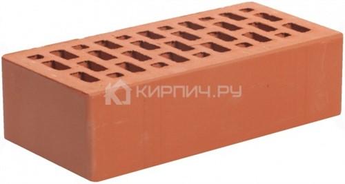 Кирпич облицовочный красный одинарный гладкий М-150 Магма