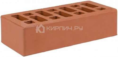 Кирпич облицовочный красный одинарный гладкий М-150 СтОскол
