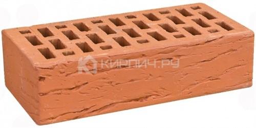 Кирпич для фасада красный одинарный риф М-150